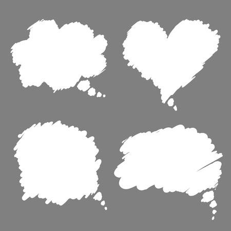 dialog baloon: comic speech bubbles design elements set isolated vector illustration Illustration