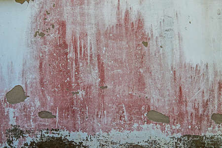 Texture background weathered old wall red stained