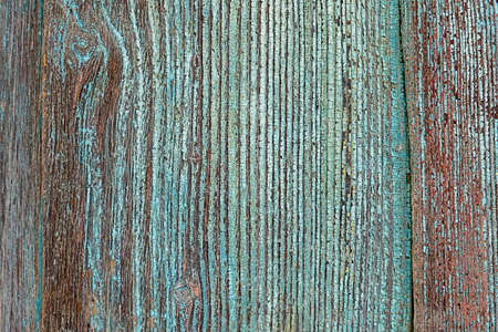Texture background wooden house wall with turquoise paint