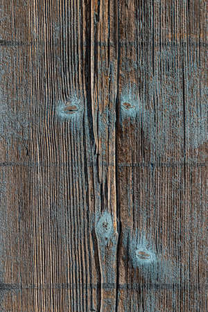 Texture background weathered wood with turquoise stains
