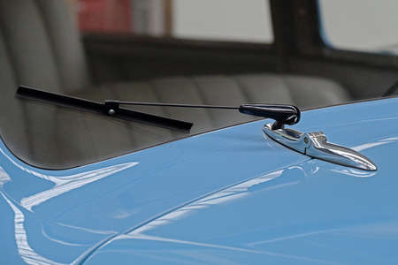 Windscreen wiper of a vintage car vintage car Stockfoto