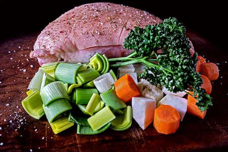 Traditional Bavarian food roasted pork