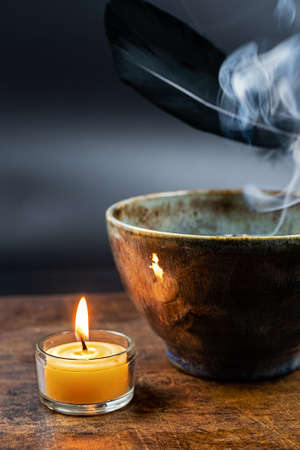 Wintertime, incense, candles and fragrance