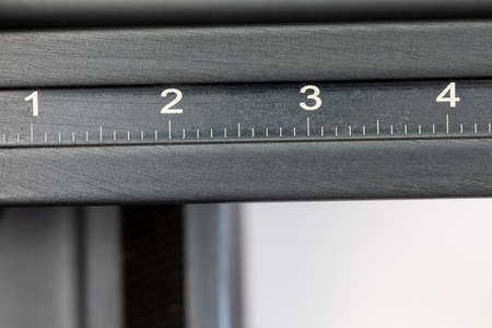 part of a macro rail wirh the numbers one, two, three and four