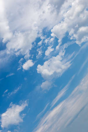 blue sky with Stratocumulus clouds