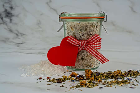 Homemade bathroom salt