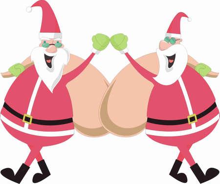 are modern: Modern Santas Illustration