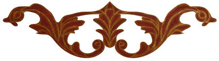 Detailed inlay of veneer of classical elements for furniture, floors, ceilings and walls