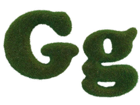 realistic grass letters on a white background that are well separated Banque d'images
