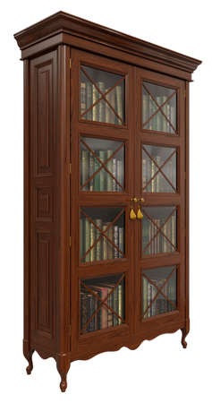 Classic bookcase for the interiors of the living room bars of the cabinet in the style of classic, borrocco, rococo
