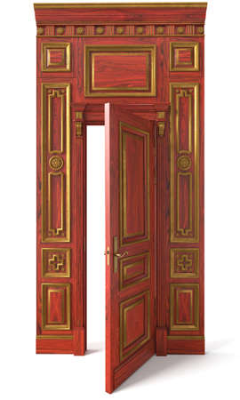 3D image classic wall panels and doors for interiors of interiors of houses, billiard rooms, offices and dining rooms