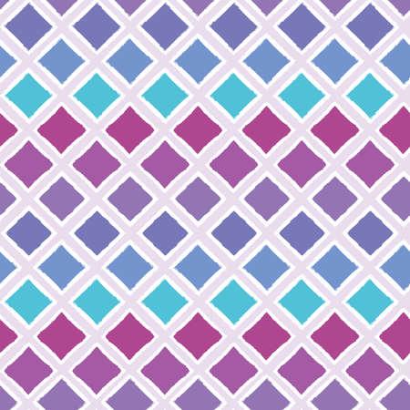 Abstrakter bunter ombre geometrischer nahtloser Vektormusterhintergrund mit gestrichelten Rautenformen für Stoff, Tapete, Scrapbooking-Projekte oder Hintergründe. Oberflächenmuster-Design. Vektorgrafik