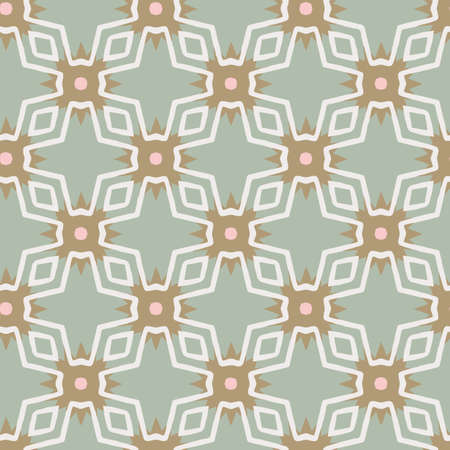 Abstract geometric seamless vector pattern modern ornamental background in pastel colors for wallpaper, fabric, paper, textile or scrapbooking. Hand drawn.