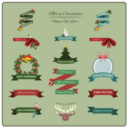 festive: Festive banners Illustration