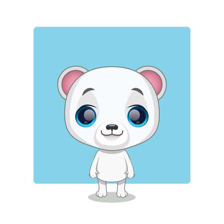 tundra: Cute polar bear mascot