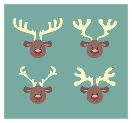antlers: Reindeer with different antlers