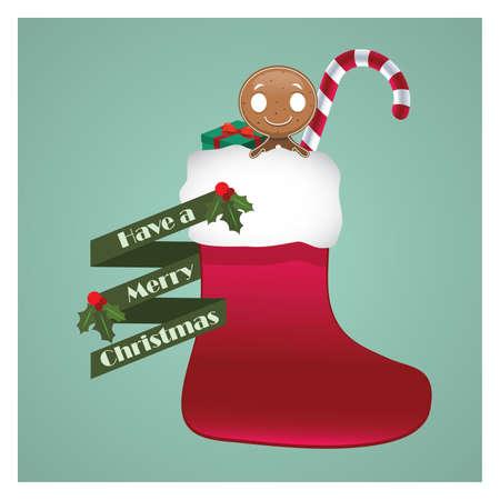 goodies: Christmas socks full of goodies Illustration