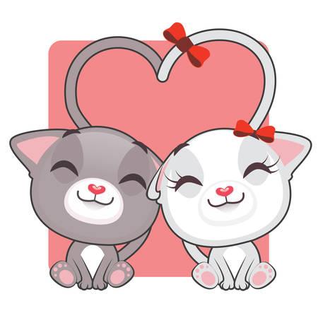 kitties: Cute kitties in love