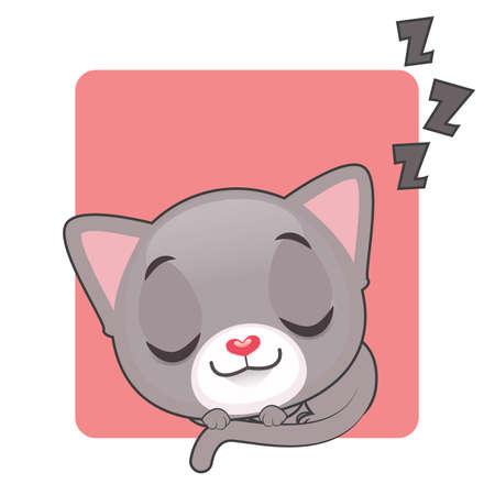 tomcat: Cute gray cat sleeping