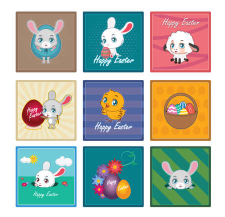 cuddly: 9 coasters with Easter theme