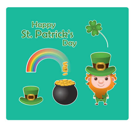 st  patrick's day: St. Patricks Day elements Illustration