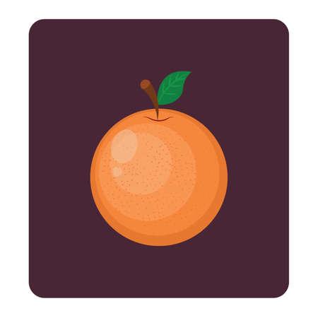 orange peel: Orange icon on dark background