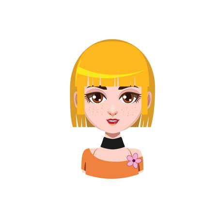 Girl with medium length hair - blonde hair color