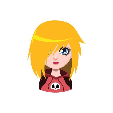 Emo girl - blonde hair color