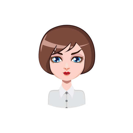 Casual woman with bob cut - brown hair color