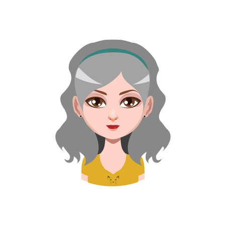 gray hair: Long haired girl with headband - gray hair color