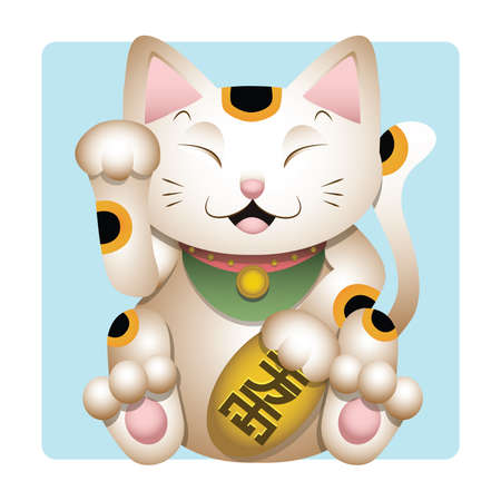 Maneki neko illustration