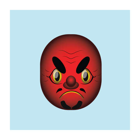 deuce: Japanese demon mask illustration