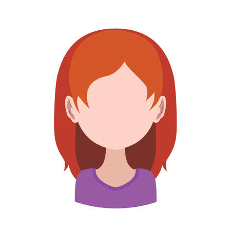 red haired: Avatar of a red haired girl