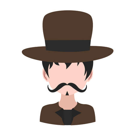 Male avatar with tophat