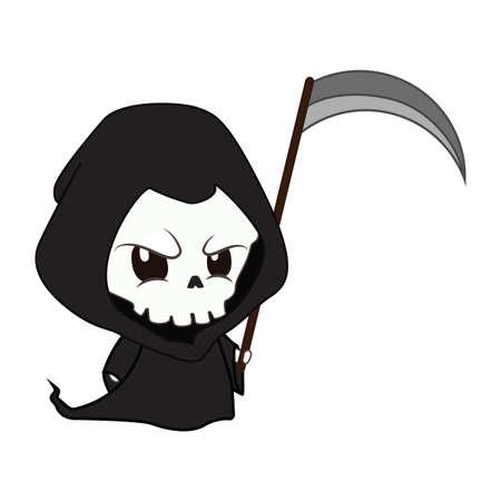 Cute but menacing reaper illustration Illustration