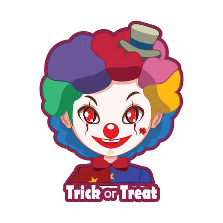 scary clown: Halloween character badge - Scary Clown