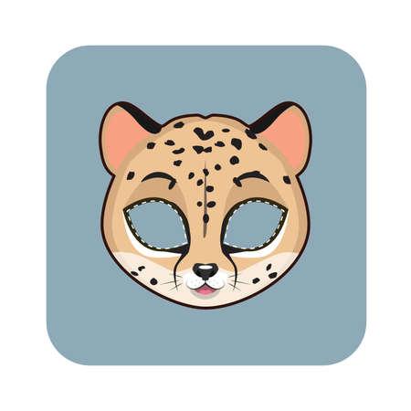felidae: Cheetah mask for various festivities, parties, activities Illustration