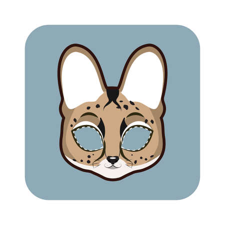 Serval mask for various festivities, parties, activities
