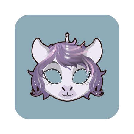 Unicorn mask for various festivities, parties, activities