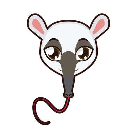 Anteater portrait illustration Illustration