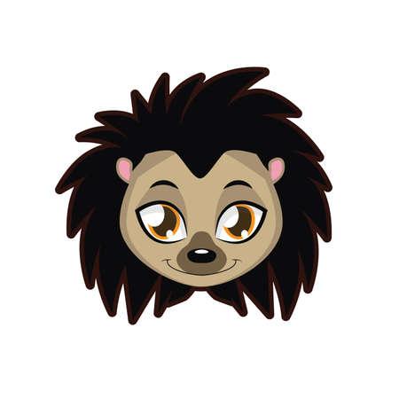 spiked: Hedgehog portrait illustration Illustration