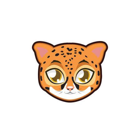 Jaguar portrait illustration