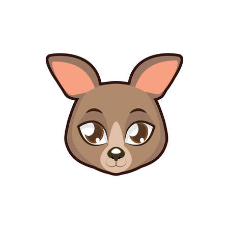 Kangaroo portrait illustration
