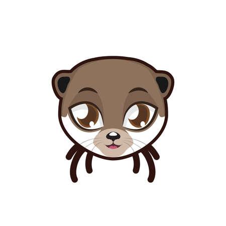 otter: Otter portrait illustration Illustration