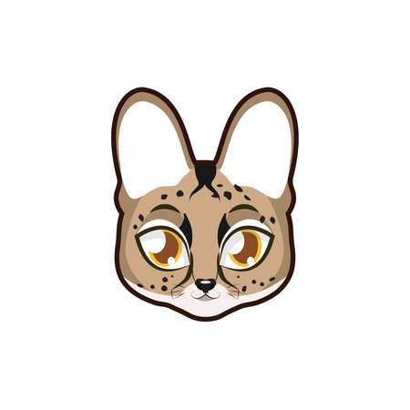Serval portrait illustration Illustration