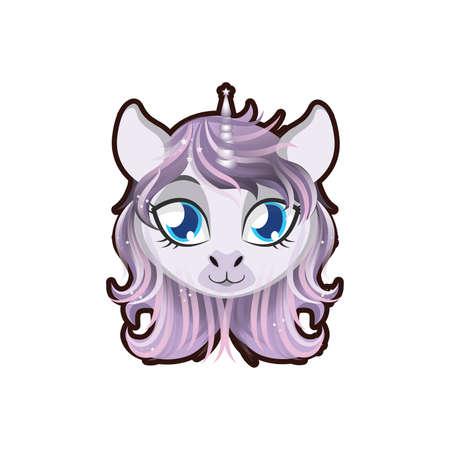 legends: Unicorn portrait illustration Illustration
