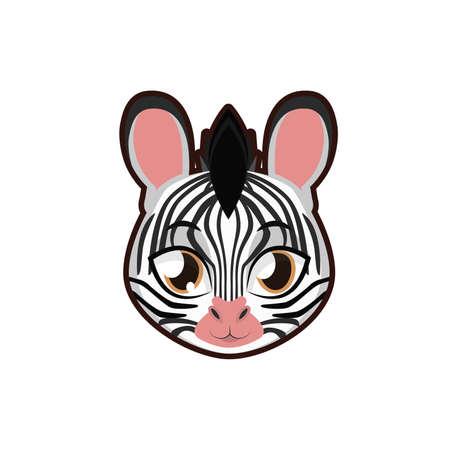 Zebra portrait illustration