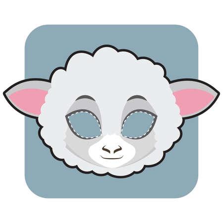 Masque de mouton pour Halloween et autres festivités Vecteurs