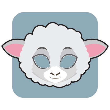 Sheep mask for Halloween and other festivities Иллюстрация