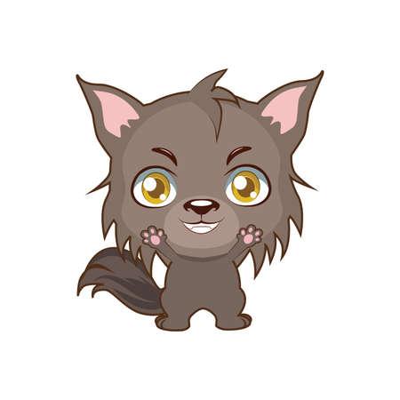 Cute big bad wolf illustration Illustration